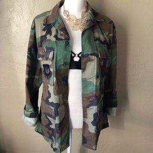 Authentic Camo Military Jacket